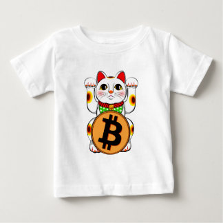 Bitcoin Maneki Neko Lucky Cat 03 Baby T-Shirt