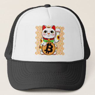 Bitcoin Maneki Neko Lucky Cat 04 Trucker Hat
