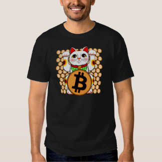Bitcoin Maneki Neko Lucky Cat 06 Tees