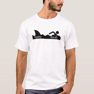 Bitcoin Mania - Shark after Swimmer Stick Figures T-Shirt