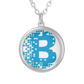 Bitcoin Merchandise Silver Plated Necklace