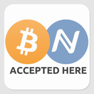 Bitcoin Namecoin Accepted Here Sticker