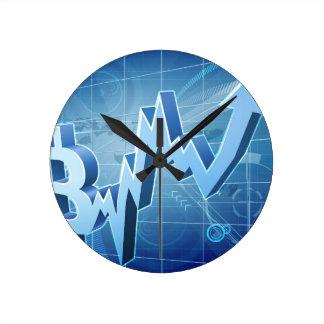Bitcoin Performance Chart Graph Concept Round Clock