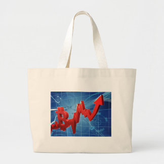 Bitcoin Performance Graph Concept Large Tote Bag