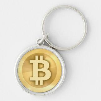 Bitcoin Premium Round Keychain