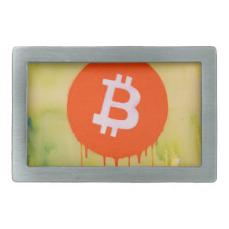 Bitcoin Rectangular Belt Buckle