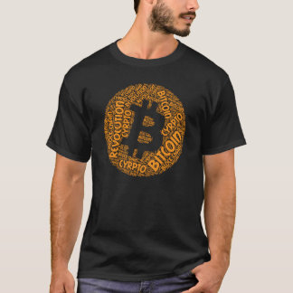 Bitcoin Revolution Block Chain Cyrpto Word Shirt