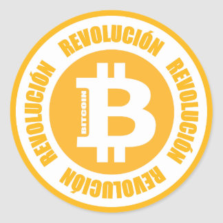 Bitcoin Revolution (Spanish Version) Classic Round Sticker