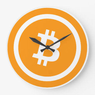 Bitcoin Round (large) wall clock