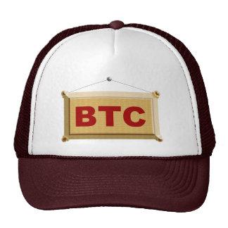 bitcoin sign wood cap