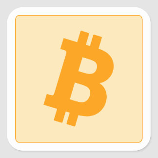 Bitcoin Square Sticker