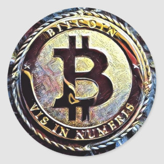 Bitcoin Sticker Cryptocurrency advertise marketing