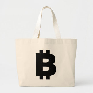 Bitcoin Symbol Large Tote Bag