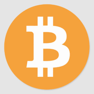 Bitcoin Symbol - Online Digital Currecny Classic Round Sticker