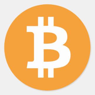 Bitcoin Symbol - Online Digital Currecny Round Sticker