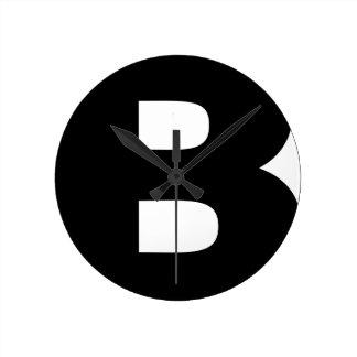 Bitcoin Symbol Round Clock