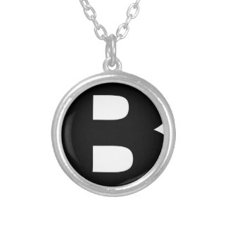 Bitcoin Symbol Silver Plated Necklace