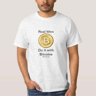 Bitcoin T-shirt (Real Men)