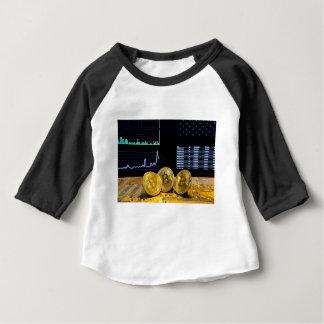 Bitcoin trio circuit market charts clean baby T-Shirt