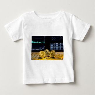 Bitcoin trio circuit market charts clean baby T-Shirt