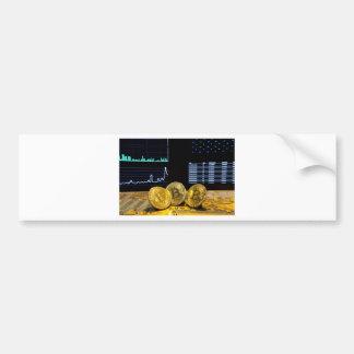 Bitcoin trio circuit market charts clean bumper sticker