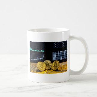 Bitcoin trio circuit market charts clean coffee mug