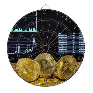 Bitcoin trio circuit market charts clean dartboard