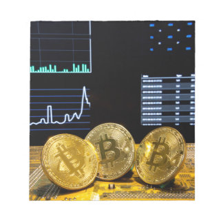 Bitcoin trio circuit market charts clean notepad