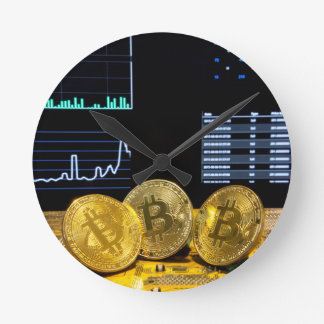 Bitcoin trio circuit market charts clean round clock