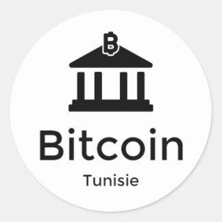 Bitcoin Tunisie Round Sticker