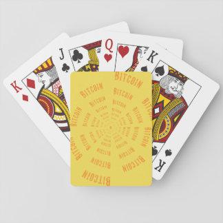 Bitcoin Tunnel - Orange Playing Cards