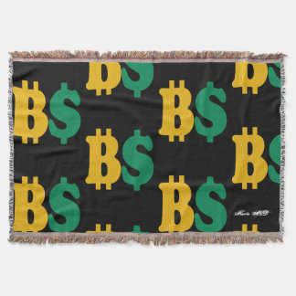 BITCOIN US DOLLAR THROW BLANKET HAVIC ACD