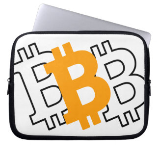 Bitcoin - virtual currency for a digital age laptop sleeve