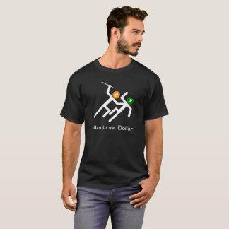 Bitcoin vs Dollar Stick Figure Battle T-Shirt