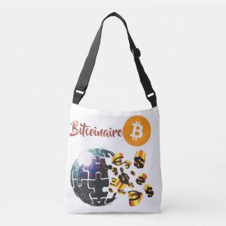 Bitcoinaire currency logo cross body bag