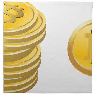 Bitcoins Stacked Napkin