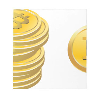 Bitcoins Stacked Notepad