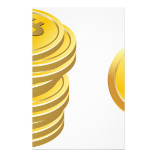 Bitcoins Stacked Stationery