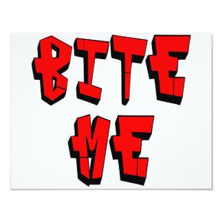 Bite Me 11 Cm X 14 Cm Invitation Card