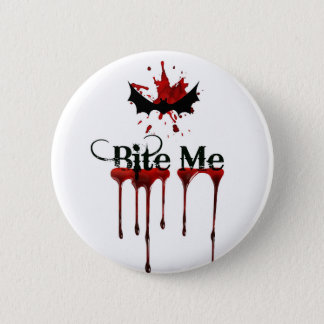 Bite Me 6 Cm Round Badge