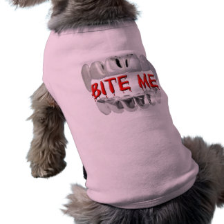 Bite Me Blood And Teeth Dog Shirt