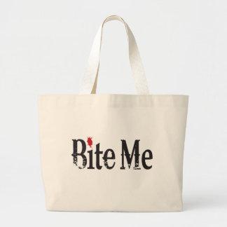 Bite Me (Blood) Tote Bags