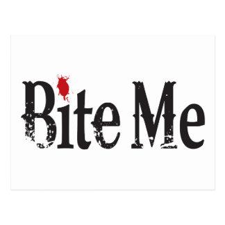 Bite Me (Blood) Postcard