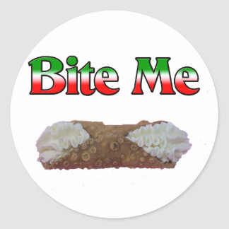 Bite Me (Cannoli) Classic Round Sticker