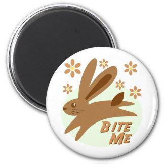 Bite Me Chocolate Bunny Magnet