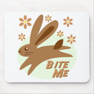 Bite Me Chocolate Bunny Mouse Pads
