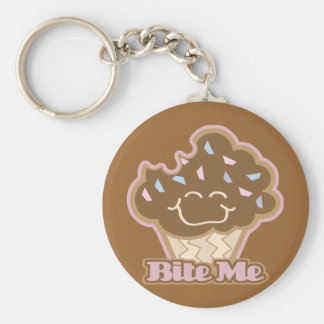 bite me chocolate cupcake key ring