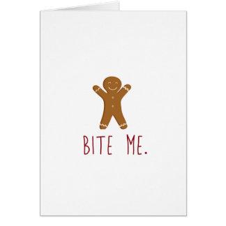 Bite Me Christmas Card