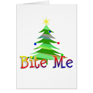 Bite Me Christmas Tree Card