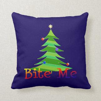 Bite Me Christmas Tree Cushion